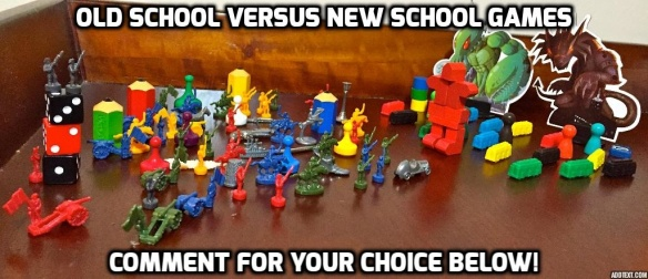 Old School vs. New School comment below