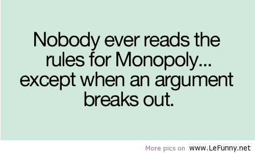 Monopoly-rules