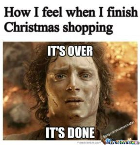 Christmas Shopping its over its done