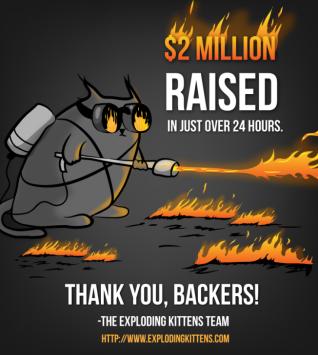 exploding kittens 2 million
